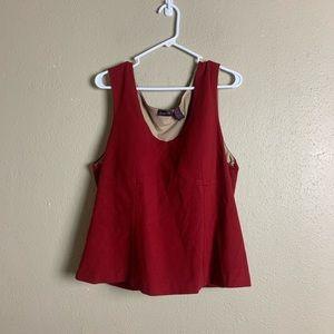 Shape fx red tank top shapewear 22W 2c23